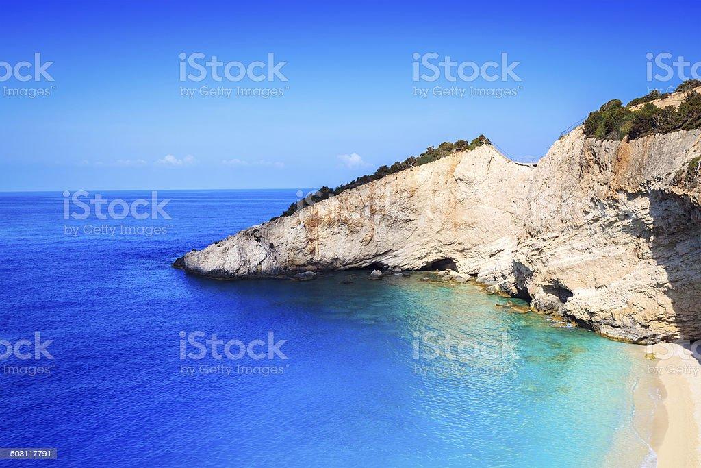 Porto Katsiki Beach stock photo