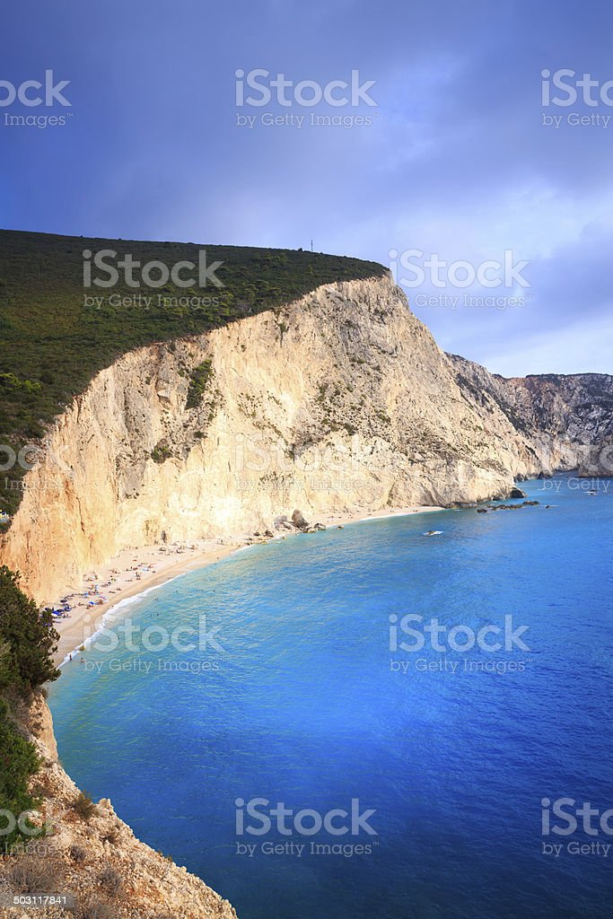 Porto Katsiki Beach royalty-free stock photo