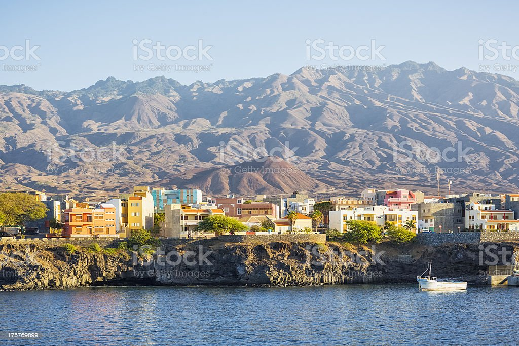 Porto Novo - Santo Antão, in Cape Verde stock photo