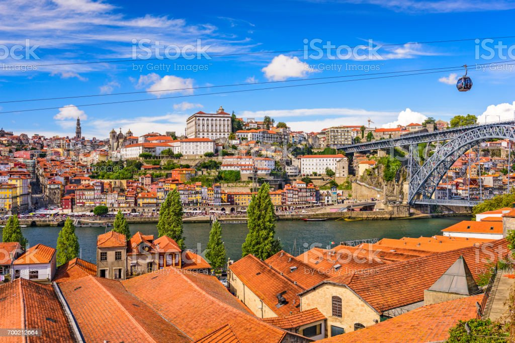 Porto, Portugal old town stock photo