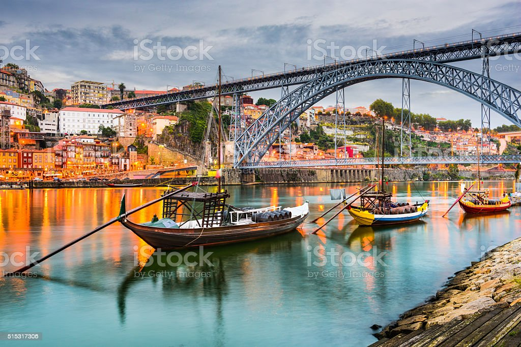 Porto Portugal on the Douro River stock photo