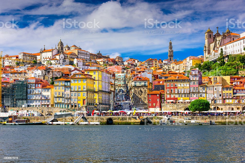 Porto Portugal skyline stock photo