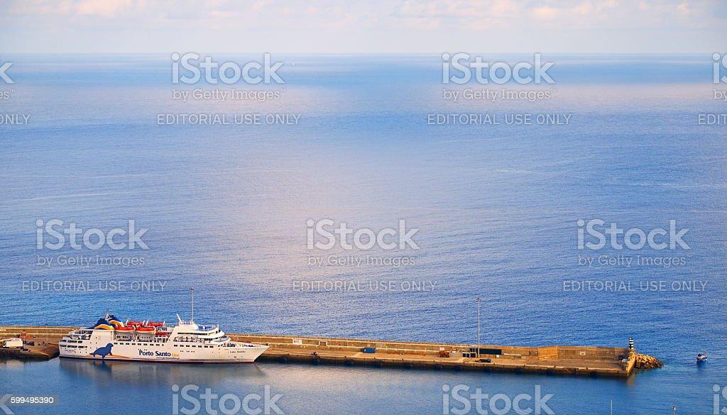 Porto Santo Ferry Lobo Marinho stock photo