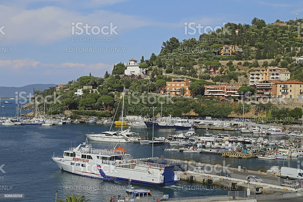 Porto Santo Stefano - Italy stock photo