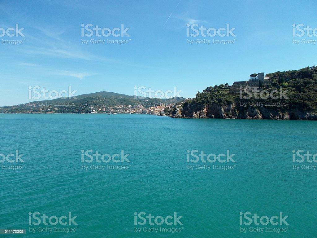 porto santo stefano - sea stock photo