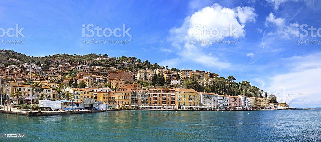 Porto Santo Stefano seafront panorama. Argentario, Tuscany, Ita stock photo