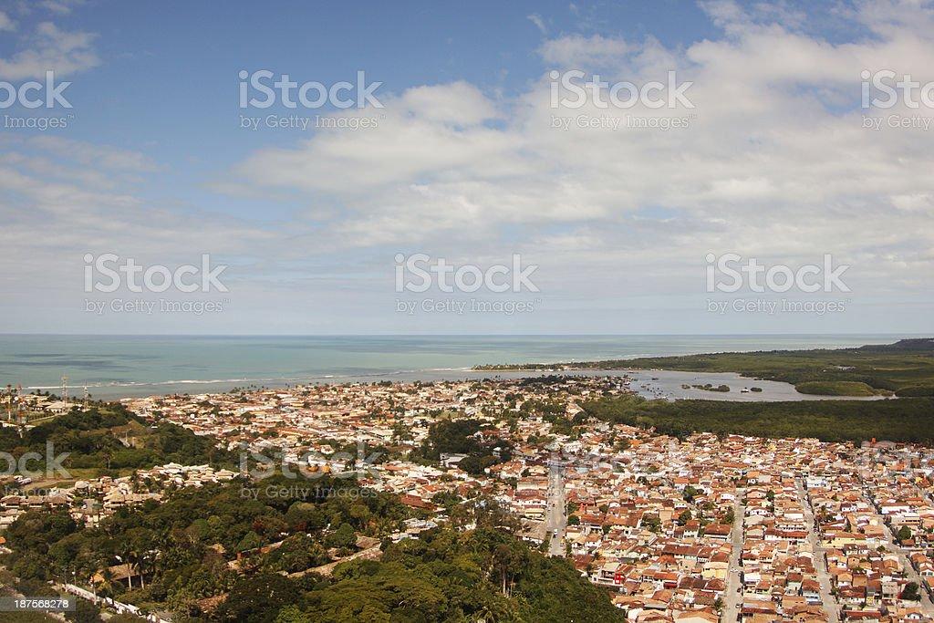 Porto Seguro - Bahia, Brasil, aerial view. stock photo