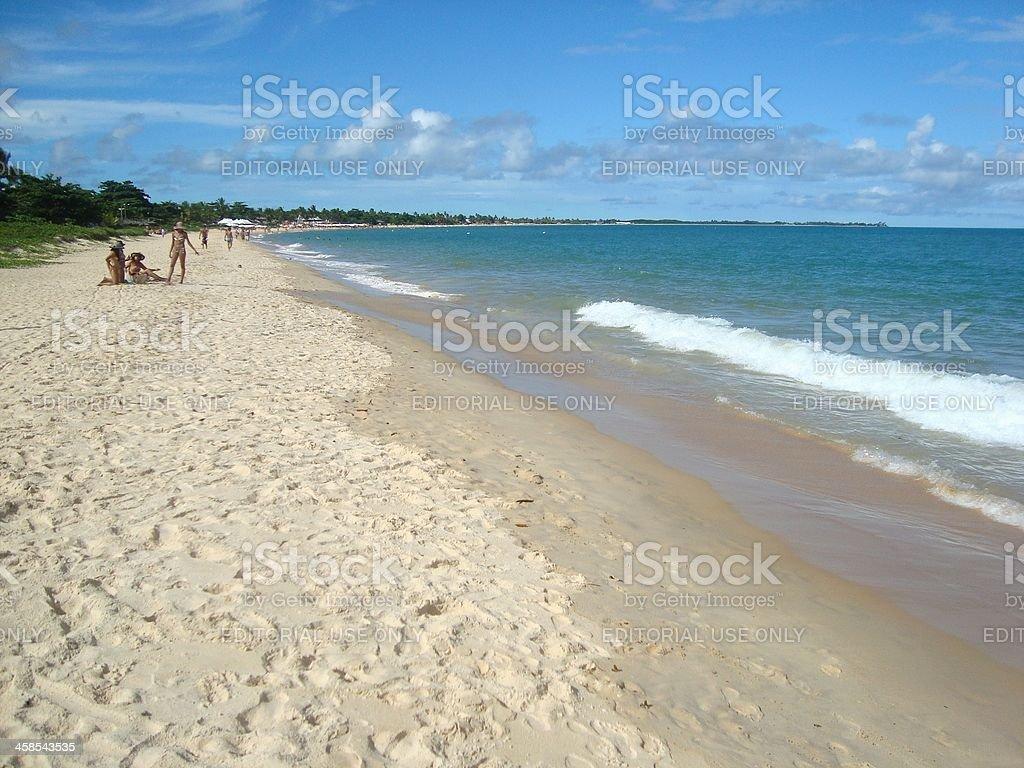 Porto seguro coastline, Bahia stock photo