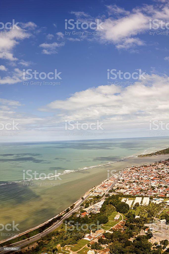 Porto Seguro from the sky - Bahia, Brasil stock photo