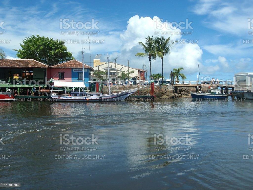 Porto Seguro Harbour, Bahia stock photo