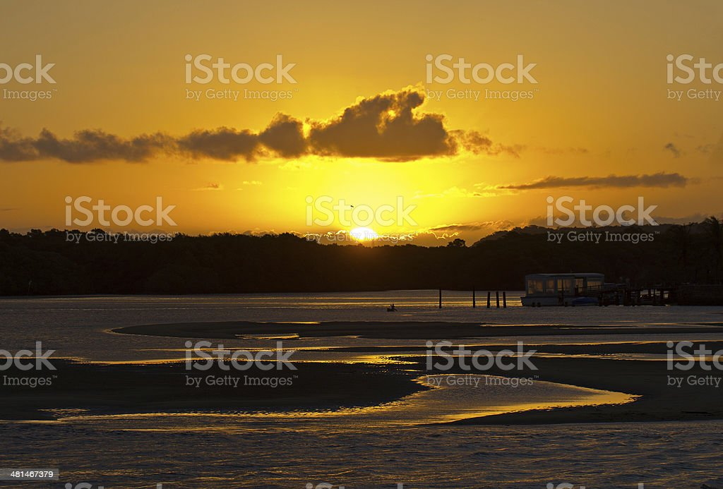 Porto Seguro Sundown stock photo