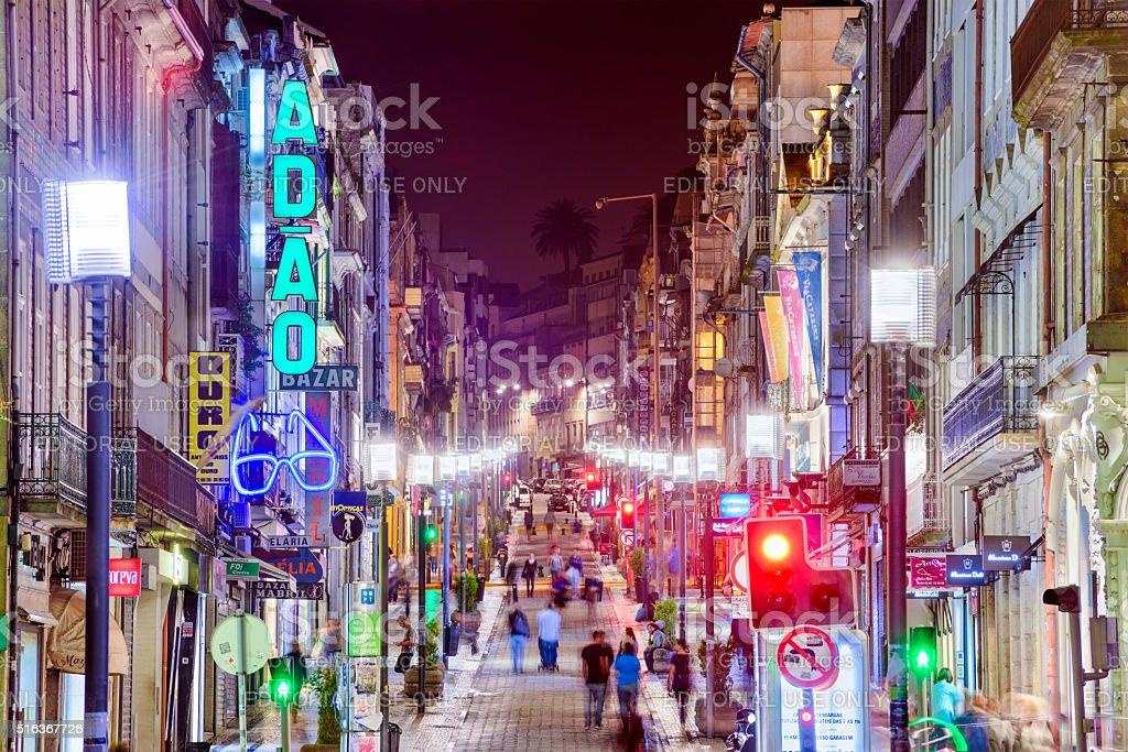 Porto Shopping Street stock photo