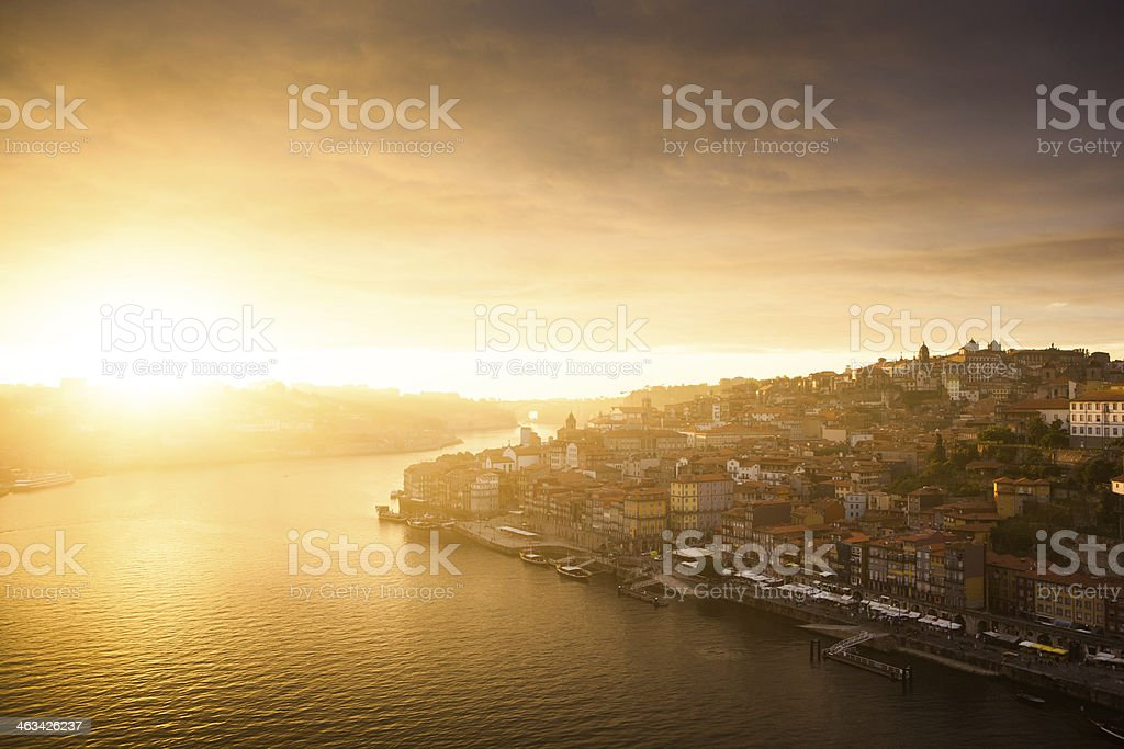 Porto Sunset, Portugal royalty-free stock photo