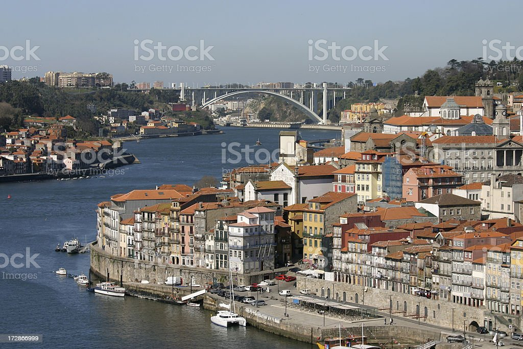 Porto to Arrabida Bridge royalty-free stock photo