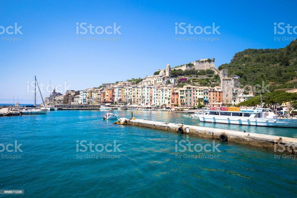 Porto Venere, Italy - June 2016 - Cityscape stock photo
