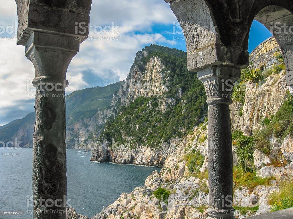 Porto Venere overlook stock photo