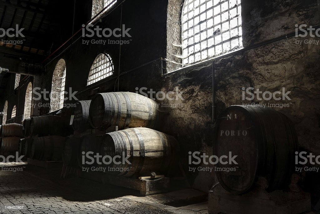 Porto wine cellar stock photo