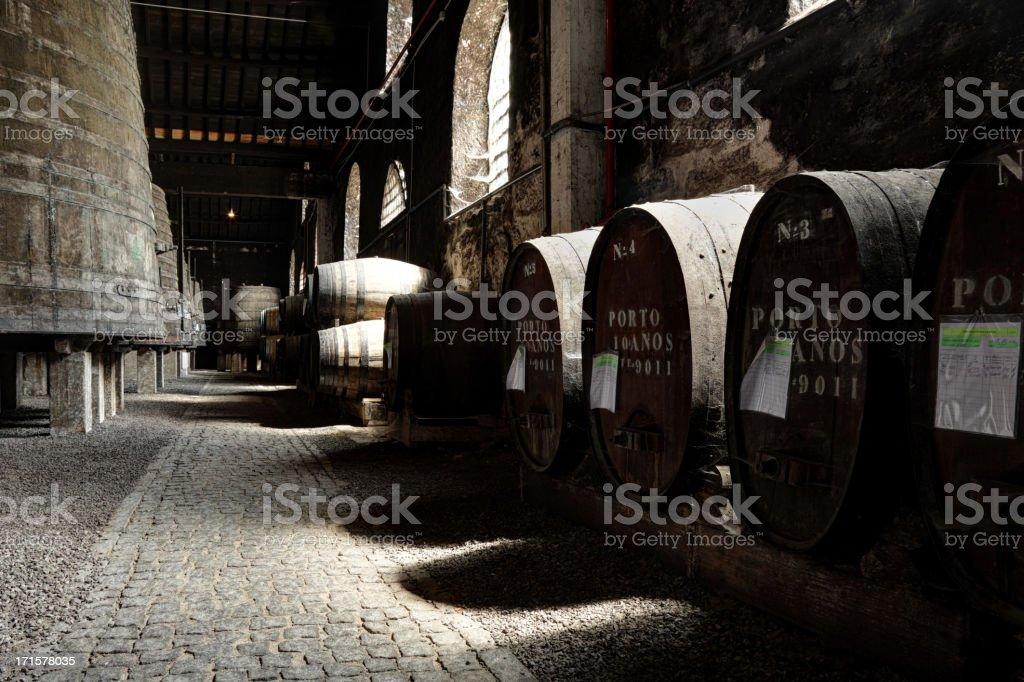 Porto wine cellar royalty-free stock photo