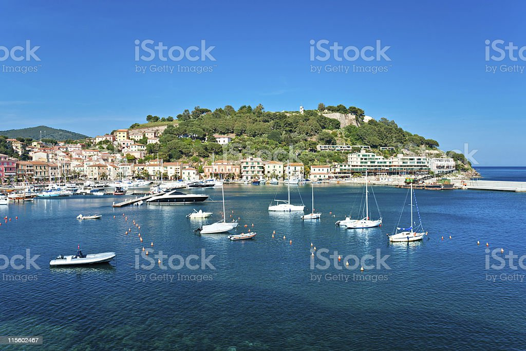 Portoazzurro, Isle of Elba, Italy. stock photo