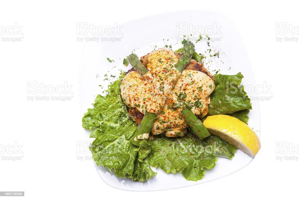 Portobello Crab Oscar stock photo