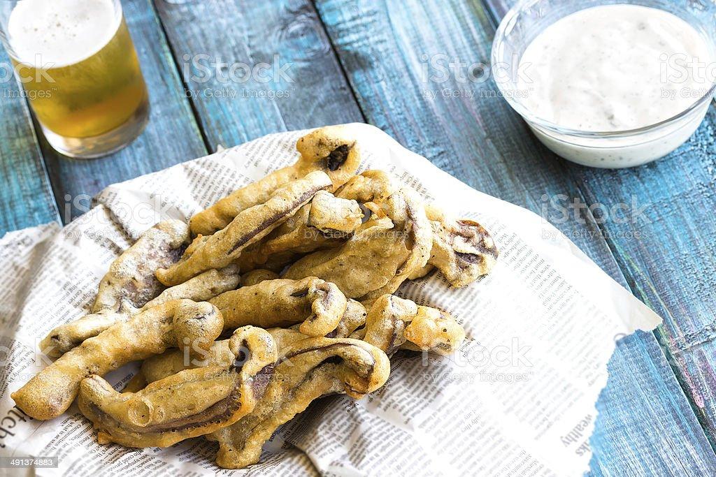 Portobello Fries stock photo