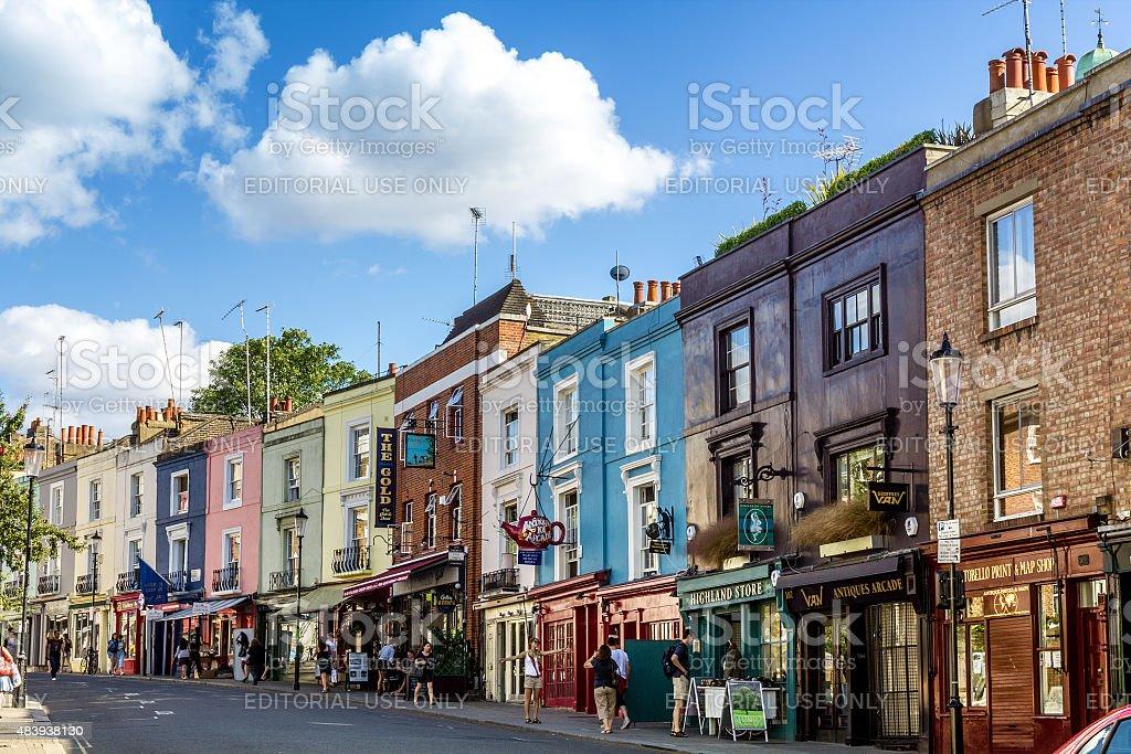 Portobello road, famous market in London stock photo
