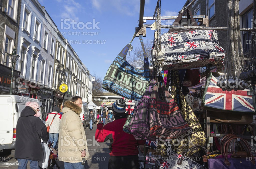 Portobello Road Market in London, England royalty-free stock photo