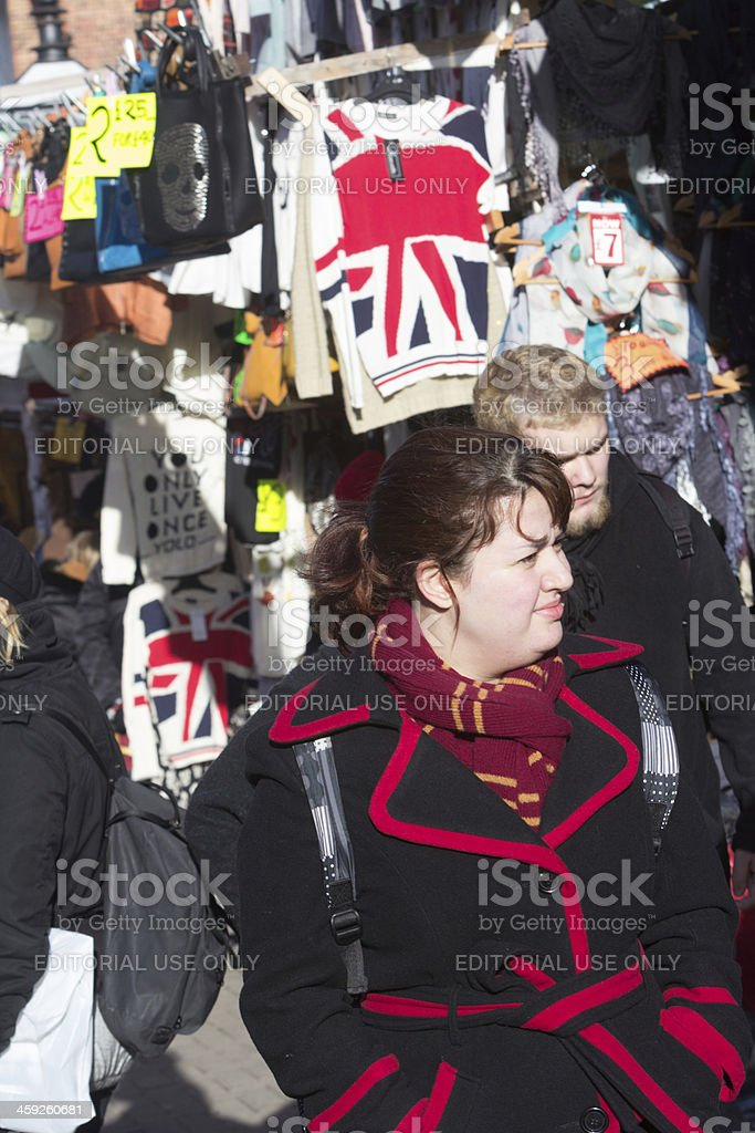 Portobello Road Market in London, England royalty-free stock photo