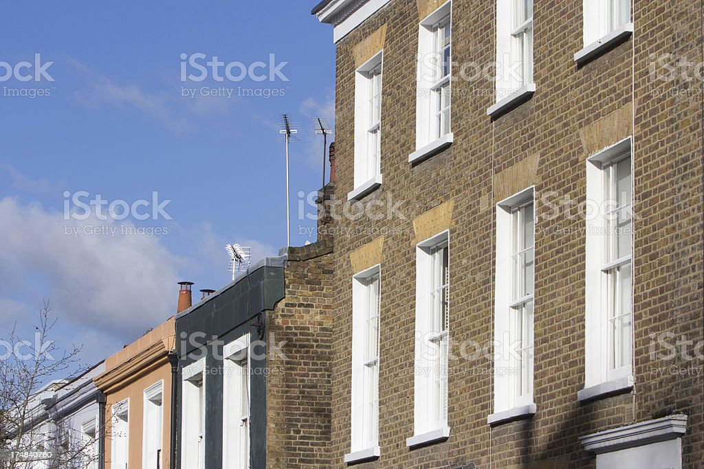Portobello Road Market in Notting Hill, London royalty-free stock photo