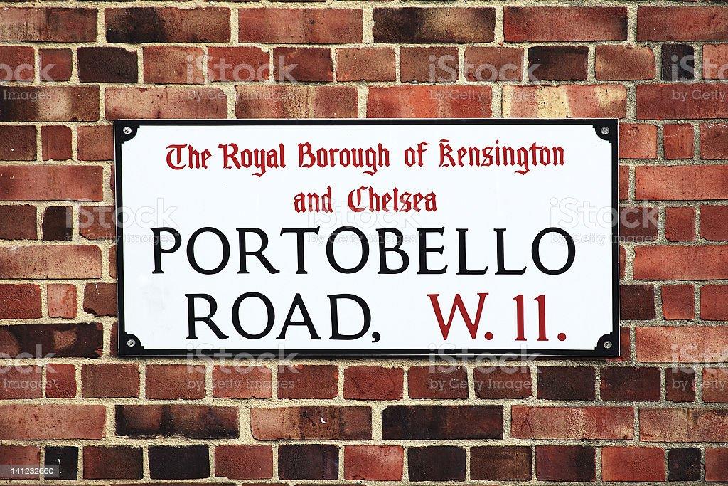 Portobello Road Sign royalty-free stock photo
