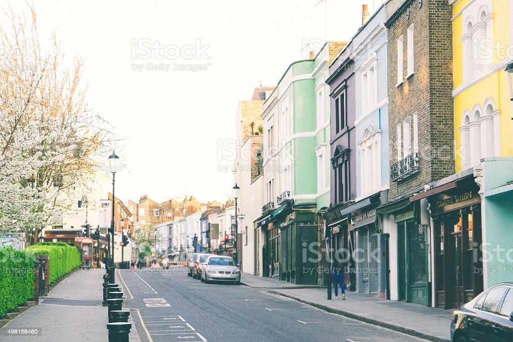 Portobello Road View, Notting Hill, London stock photo
