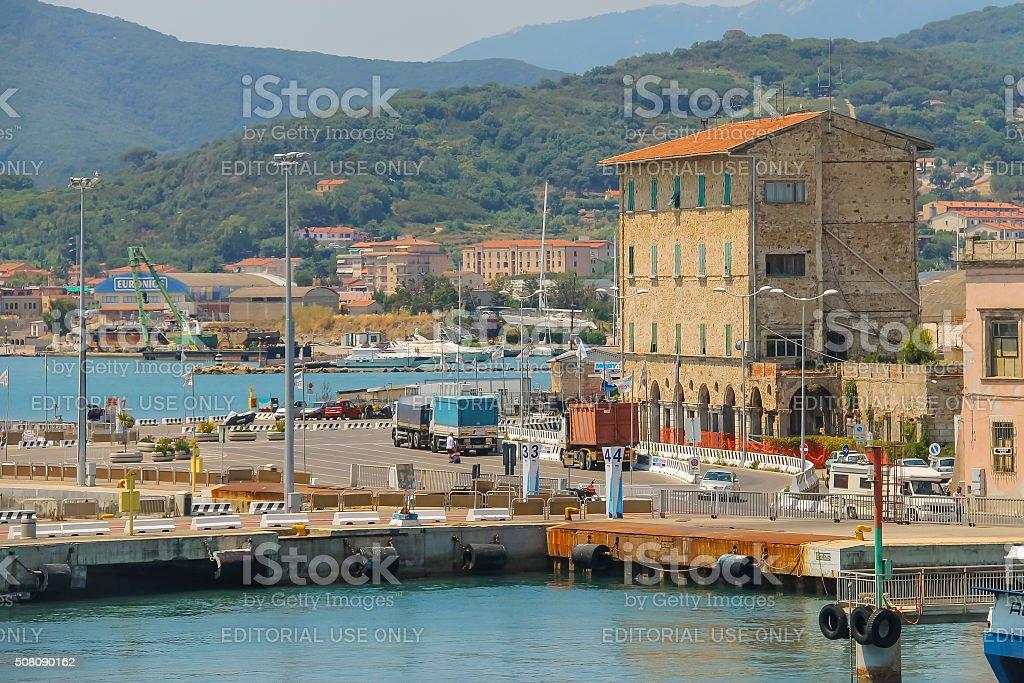 Portoferraio harbour on Elba island, Tuscany, Italy stock photo