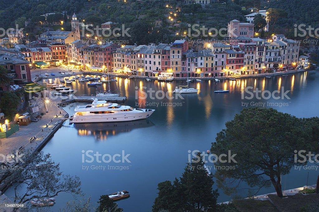 Portofino by night royalty-free stock photo