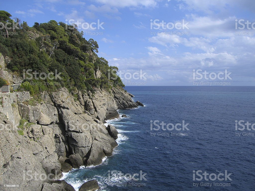 Portofino Coastline 1 royalty-free stock photo