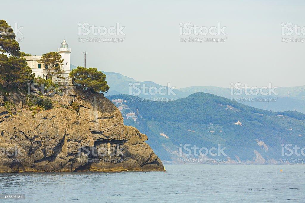 Portofino lighthouse stock photo