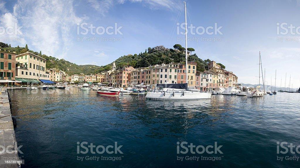 Portofino panoramic view royalty-free stock photo