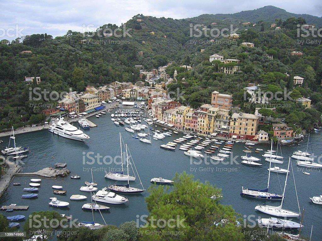 Portofino View 2 royalty-free stock photo