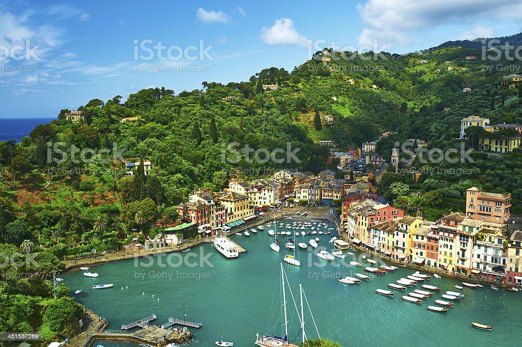 Portofino village on Ligurian coast, Italy royalty-free stock photo