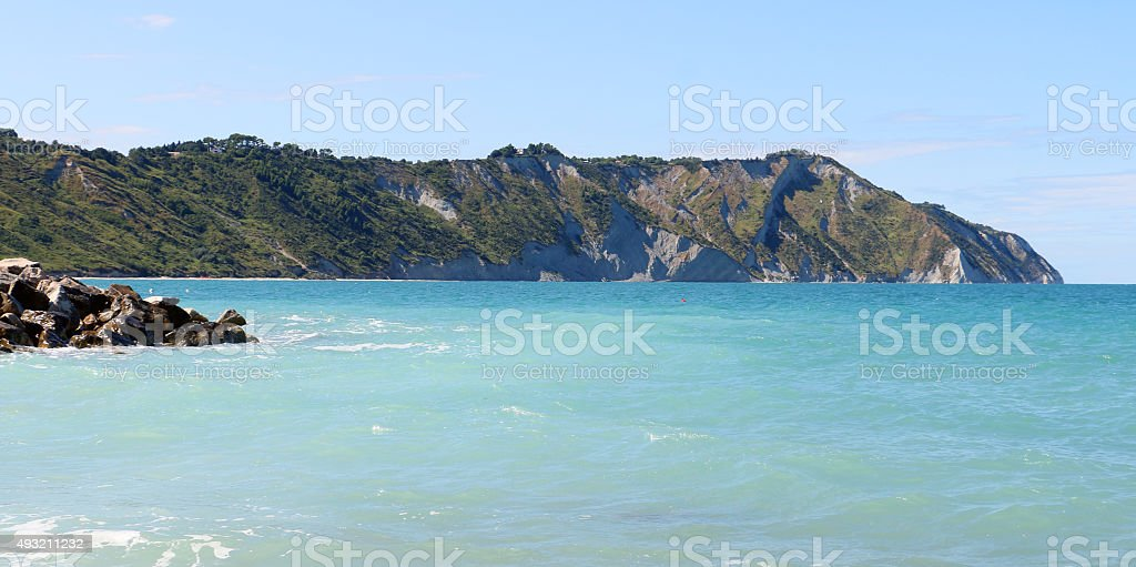 Portonovo beach (Marches) stock photo