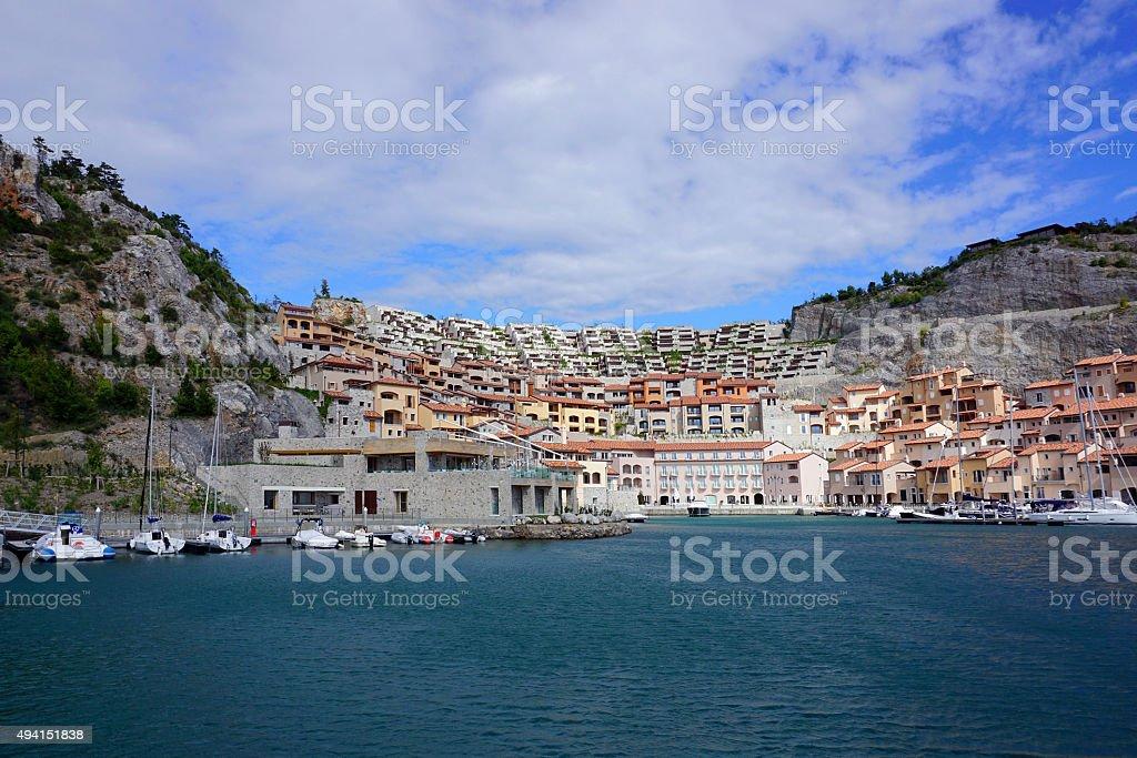 Portopiccolo in Sistiana, Italy stock photo