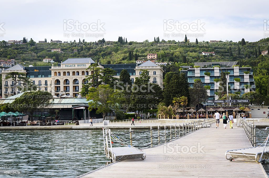 Portoroz Riviera with Kempinski Palace Hotel Slovenia Europe stock photo