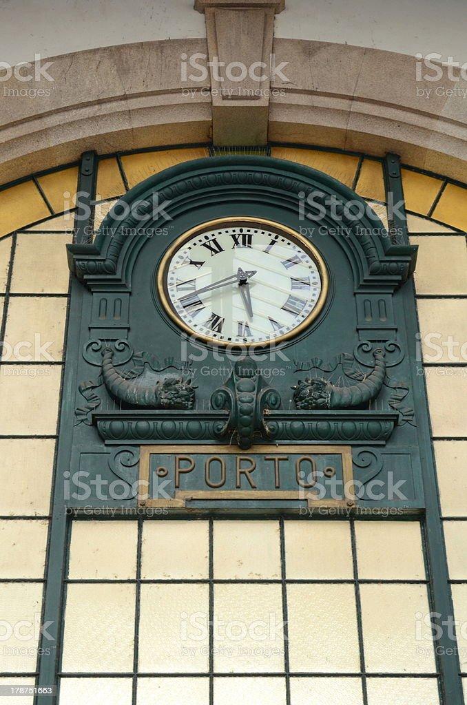 Porto's railway station, Portugal royalty-free stock photo