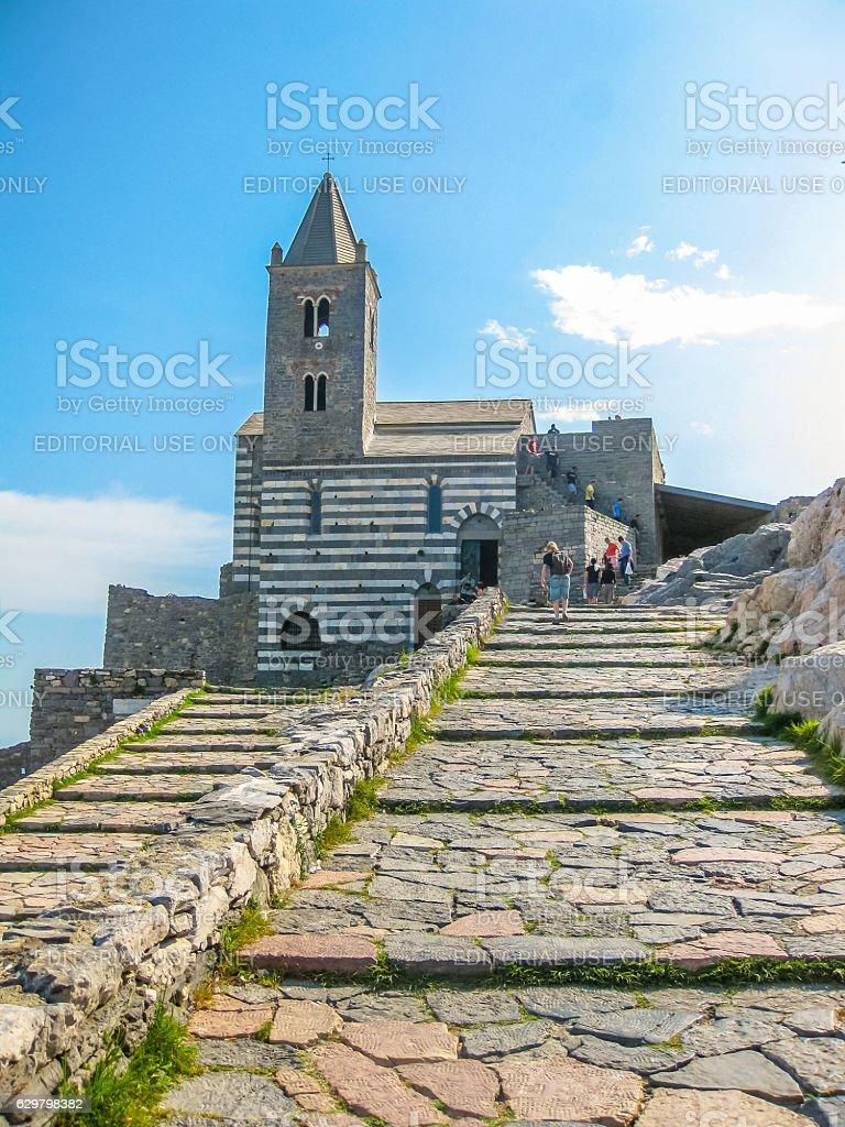 Portovenere Chiesa di San Pietro stock photo
