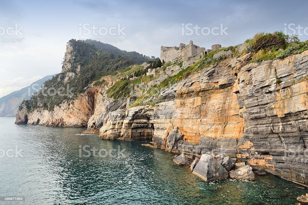Portovenere - Doria Castle stock photo