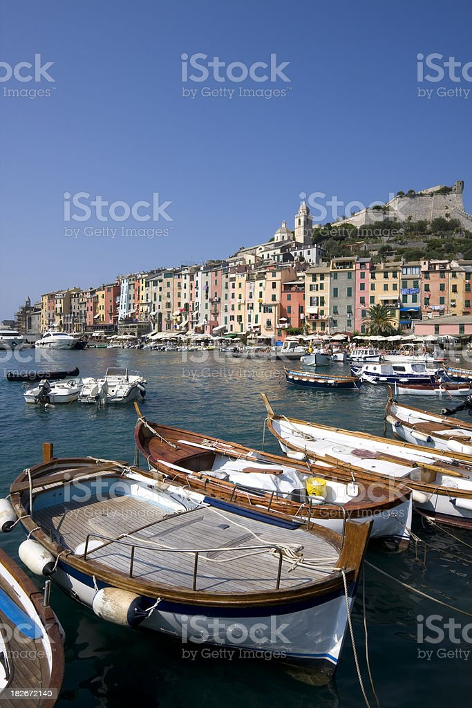 Portovenere harbour, Italy stock photo