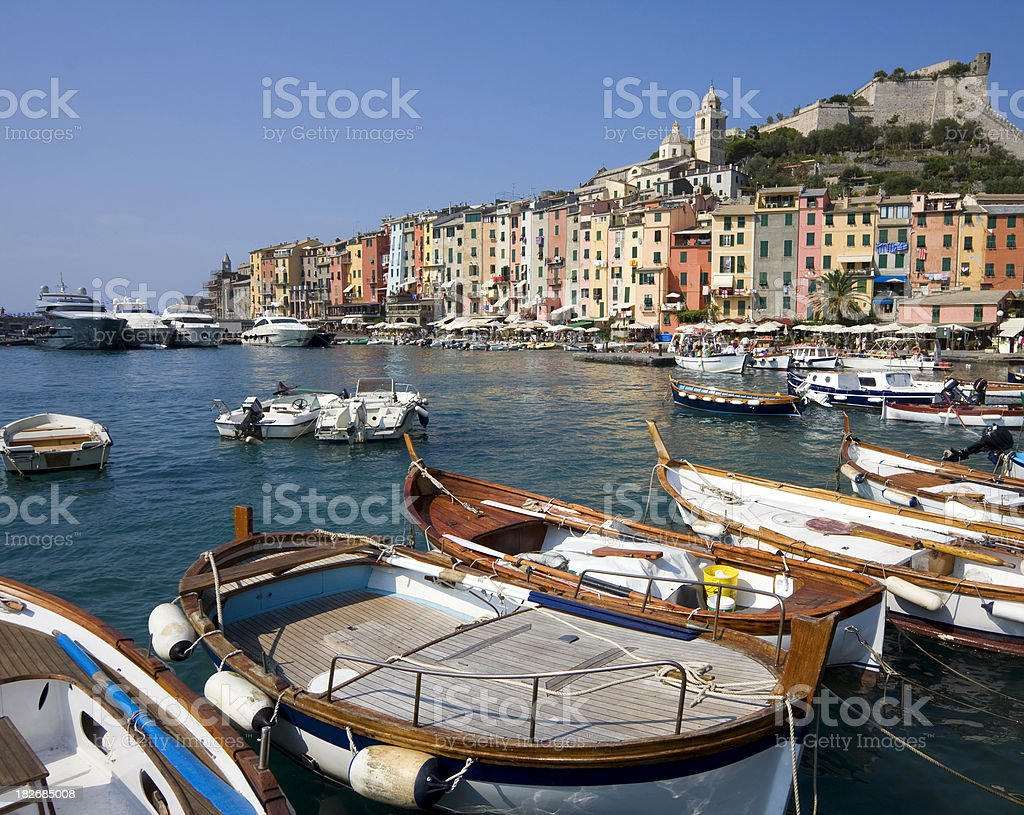 Portovenere harbour, Italy royalty-free stock photo