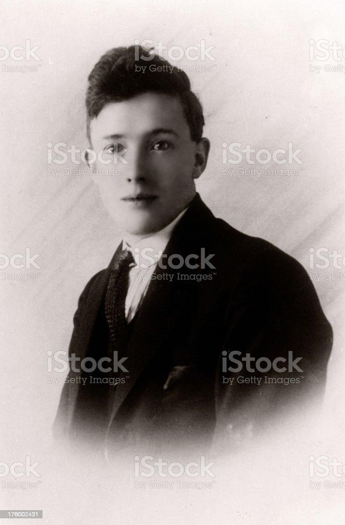 Portrait 1920s stock photo