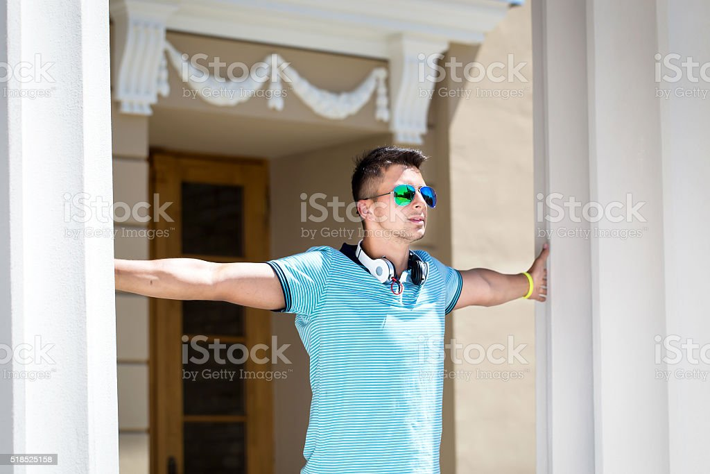 Portrait abaout a handsome man stock photo
