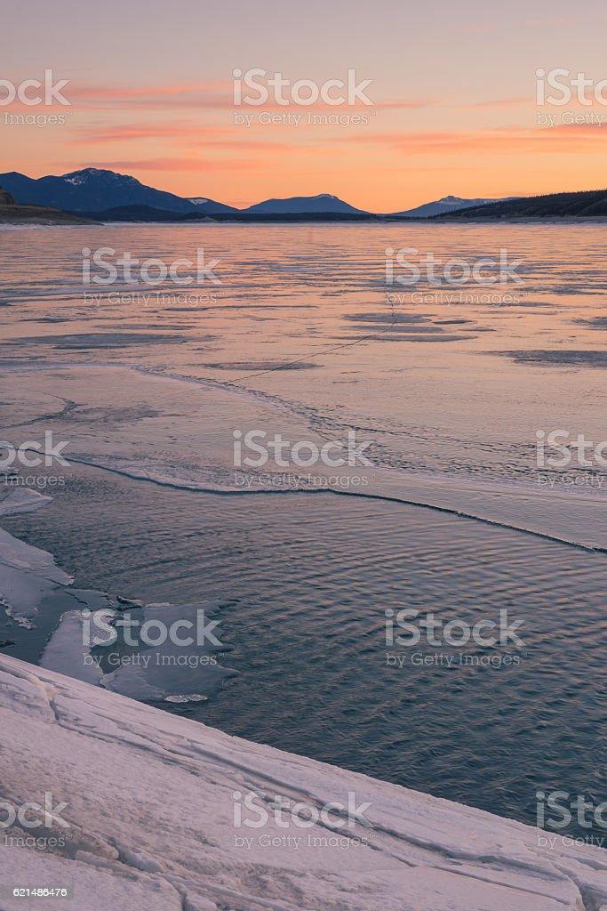 Portrait Abraham Lake Landscape stock photo