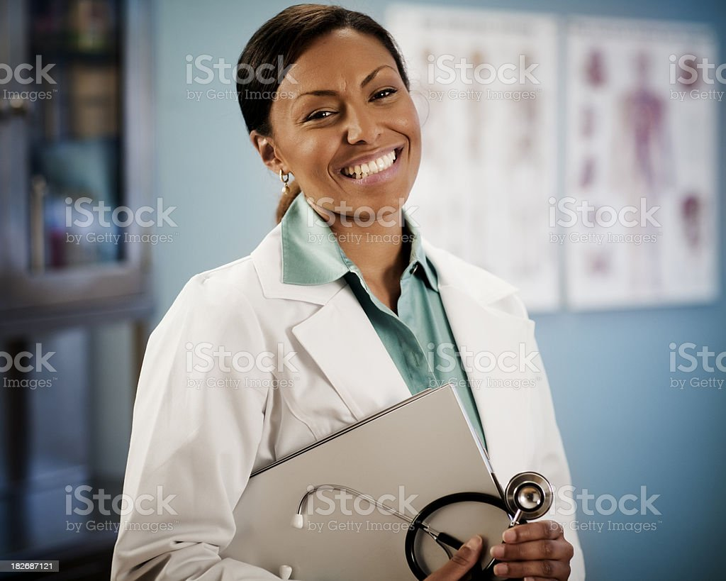 Portrait African American Female Doctor royalty-free stock photo